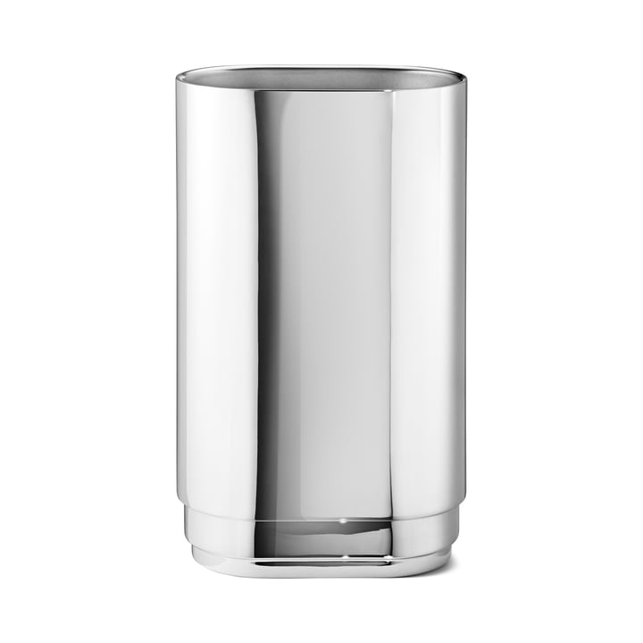Manhattan Candleholder large by Georg Jensen in Stainless Steel