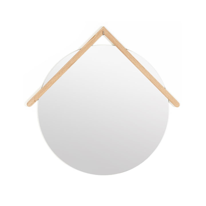 Lubin Wall Mirror Ø 40 cm by Hartô in Natural Oak