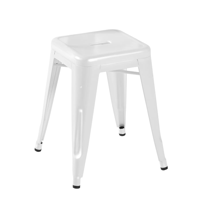 Tolix H45 Stool Indoor, glossy white