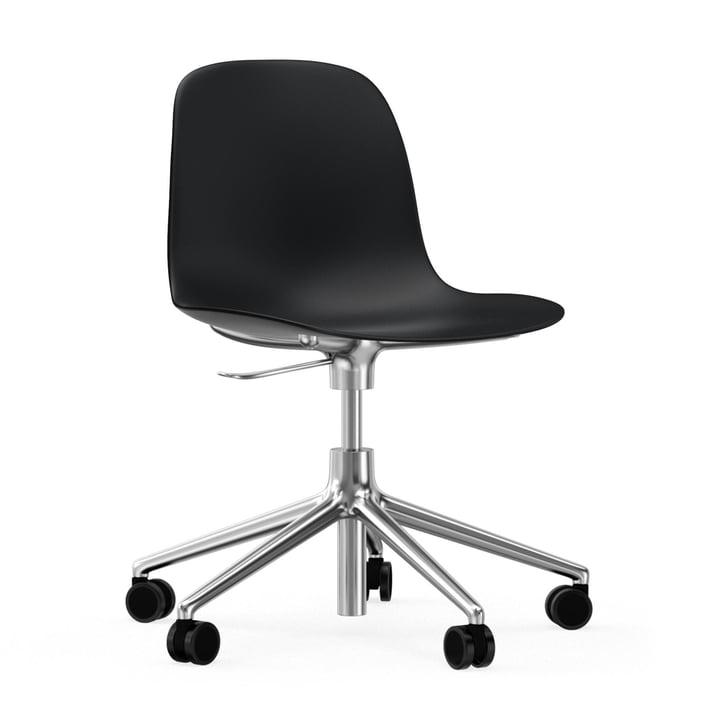 Form Swivel Office Chair by Normann Copenhagen in Black / Aluminium