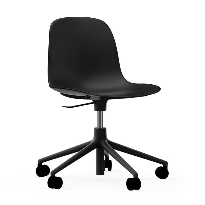 Form Swivel Office Chair by Normann Copenhagen in Black / Aluminium.