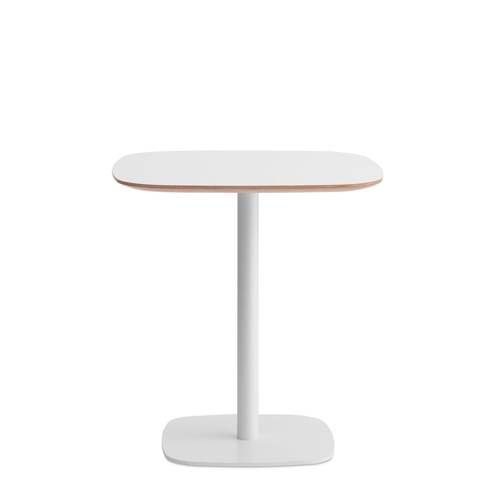 Form bistro table 70 x 70 x 74,5 cm by Normann Copenhagen in white with oak frame