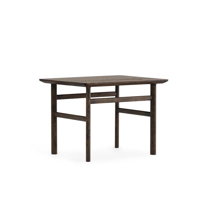 Grow coffee table 50 x 60 cm by Normann Copenhagen in dark stained oak