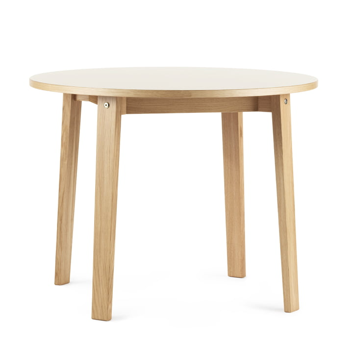 The Slice Table Ø 95 x 74 cm by Normann Copenhagen in Cream