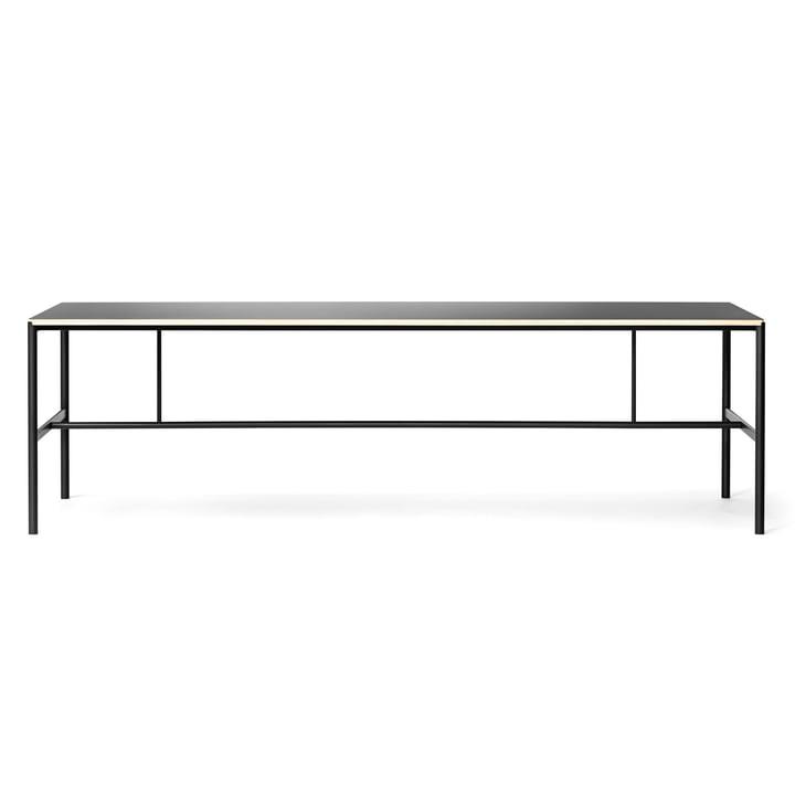 Million - Mies dining table 200 x 90 cm, black / linoleum black (plywood edge)