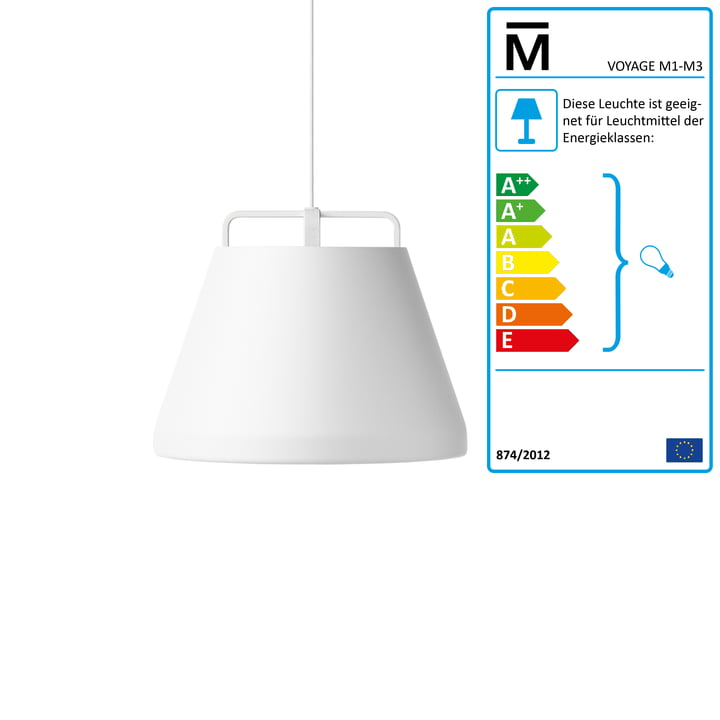 Million - Voyage M1 Pendant Lamp Ø 46 cm in white / white