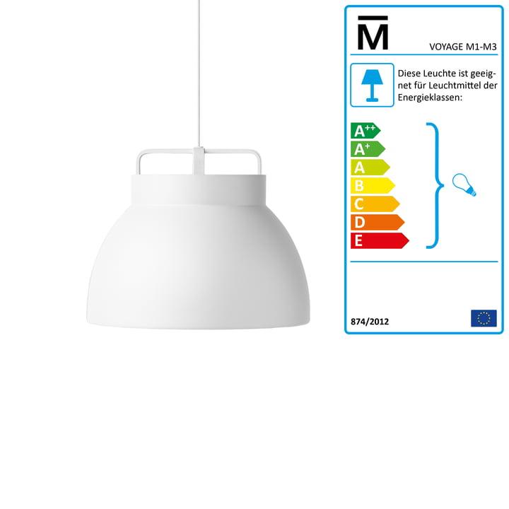 Million - Voyage M3 Pendant Lamp Ø 46 cm in white / white