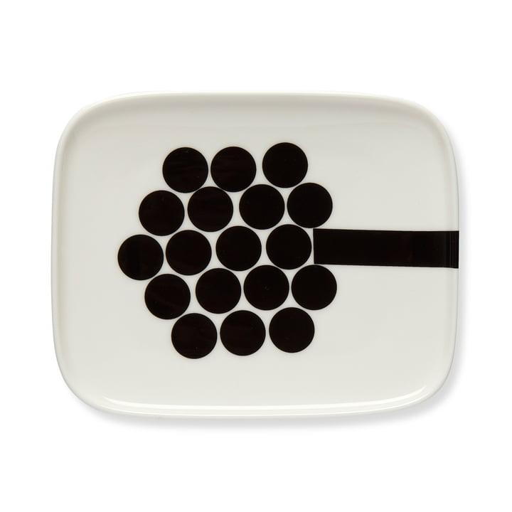 Marimekko - Hortensie Serving Platter 15 x 12 cm, white / red / pink