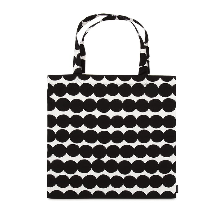 Räsymatto shopping bag from Marimekko in black / white
