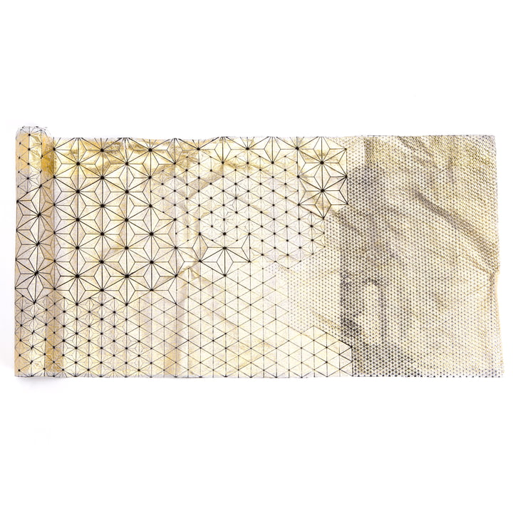 Mika Barr - Tamara Table Runner, 220 x 50 cm, gold / black