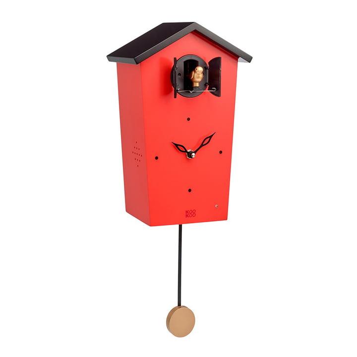 KooKoo - Bird House Cuckoo Clock, red (limited edition)