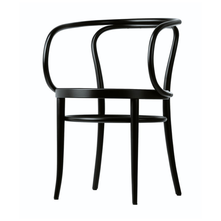 209 Bentwood Chair by Thonet made from black stained beech (TP 29) with cane work