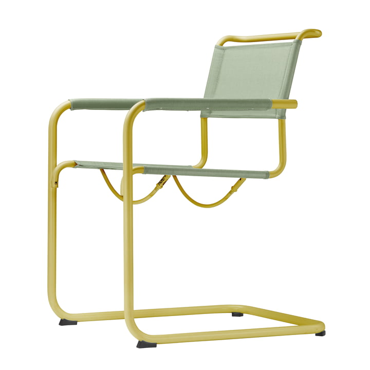 S 34 N All Season Chair by Thonet in mustard yellow / moss