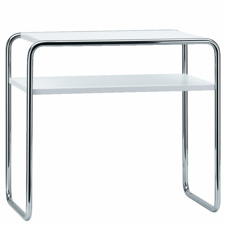 B 9 d/1 Nesting Table by Thonet in Chrome / Jet Black (RAL 9010)