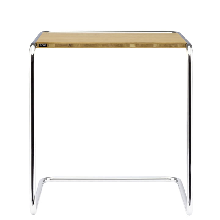 B 97 a Set table of Thonet in chrome / oak oiled (Pure Materials)