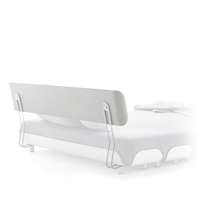 Stadtnomaden - Backrest for Tiefschlaf Bed 140 cm, white