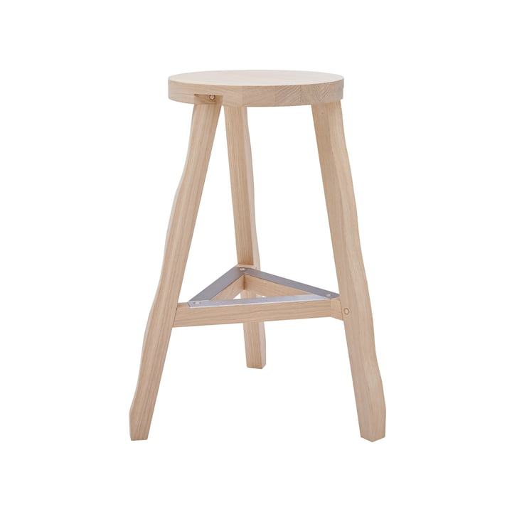 Offcut Stool H 65 cm by Tom Dixon in Natural Oak.