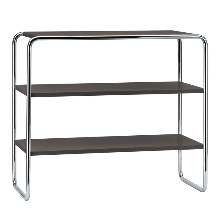 B 22 a shelving unit by Thonet with topcoat in jet black (RAL 9005)