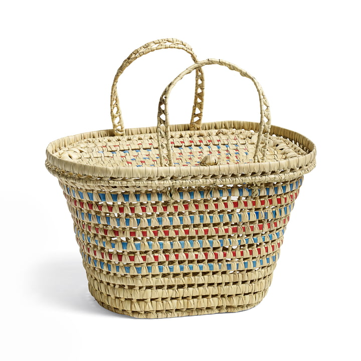 Picnic Basket by Hay in Nature / Blue / Red