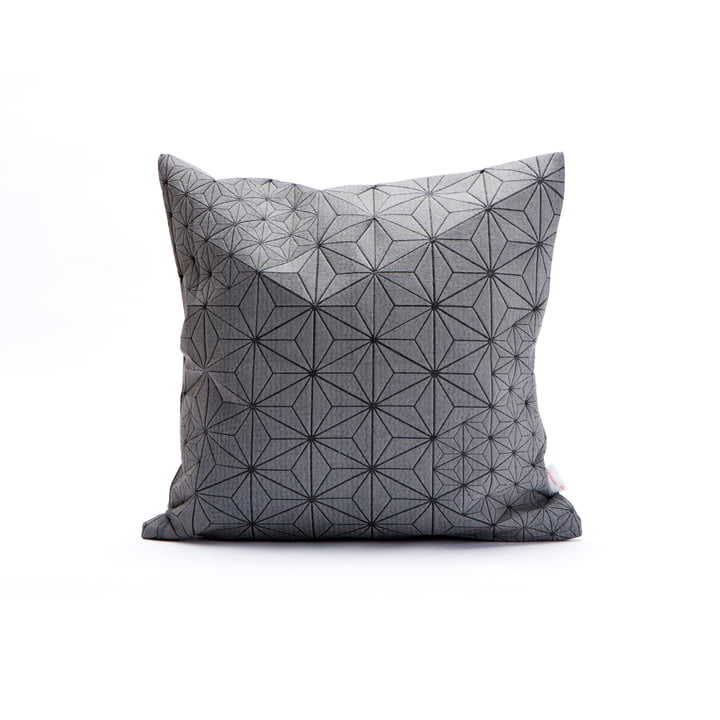Mika Barr - Tamara Cushion Cover, 40 x 40 cm, grey / black