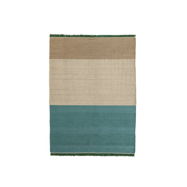 nanimarquina - Tres Stripes 170 x 240 cm, salvia