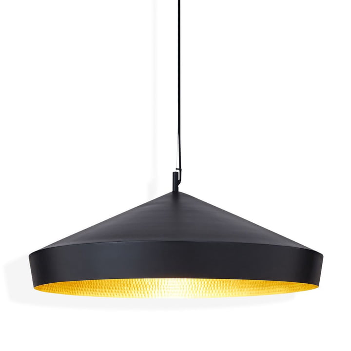 Beat Light Flat Pendant Lamp by Tom Dixon in Black