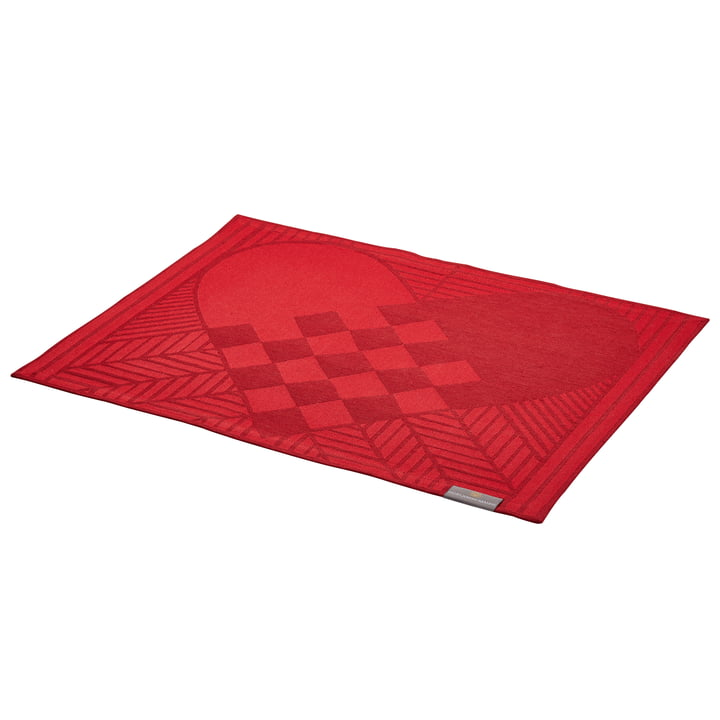Christmas Rustic placemat by Georg Jensen Damask in deep red