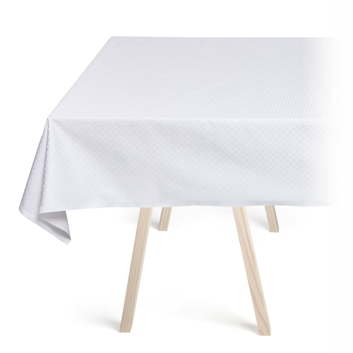 Snowflakes Tablecloth by Georg Jensen Damask in White