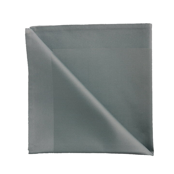 Damask fabric napkins by Georg Jensen Damask in mineral blue