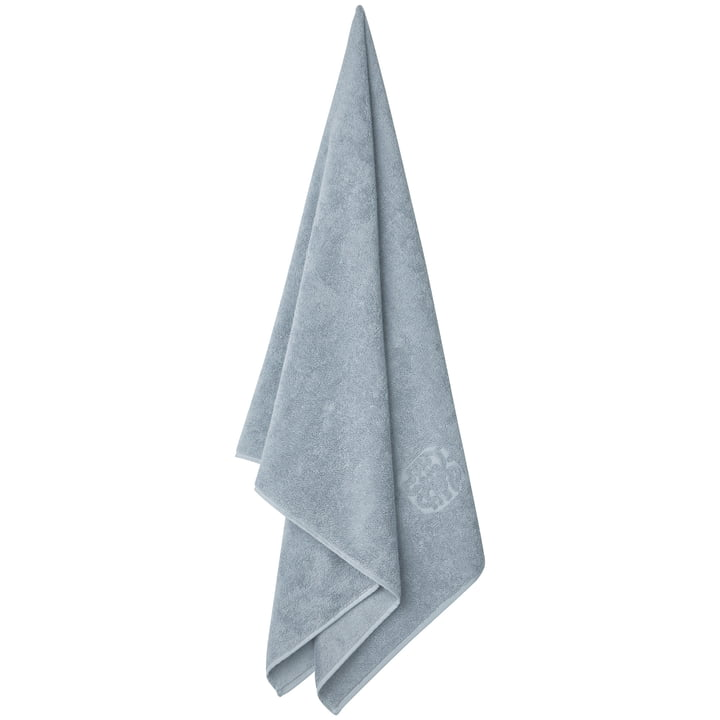 Damask Terry bath towel by Georg Jensen Damask in Blue Granite