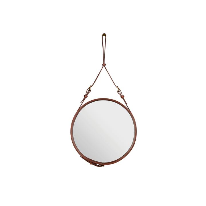 Adnet Mirror Ø 45 cm by Gubi in Brown