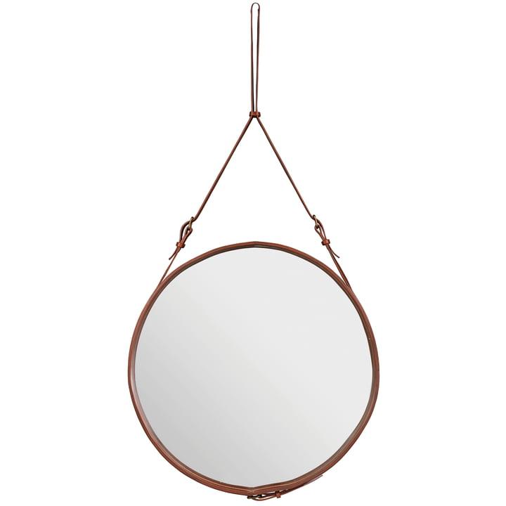 Adnet Mirror Ø 70 cm by Gubi in Brown