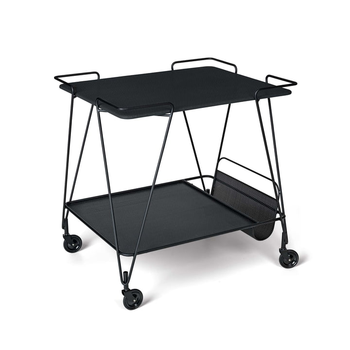 Matégot Trolley by Gubi in Midnight Black