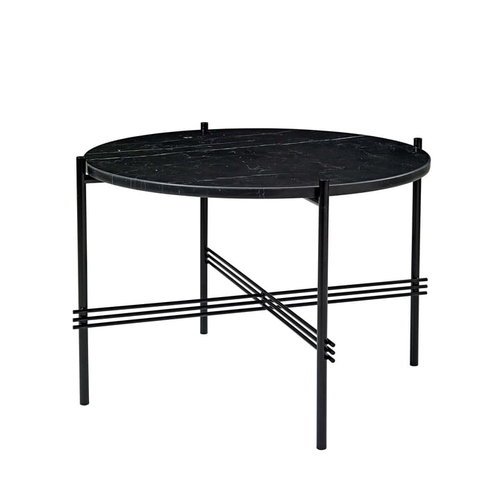 Gubi - TS Coffee Table Ø 55 cm in Black / Black Marble