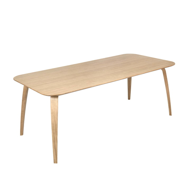 Rectangular dining table 100 x 200 cm by Gubi in oak