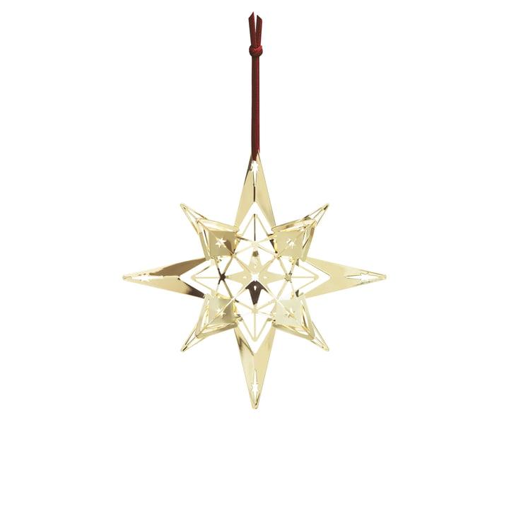 Christmas Star Ornament H 13 cm by Rosendahl, Gold