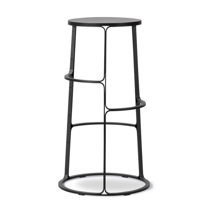 Barbry Stool by Fredericia in black