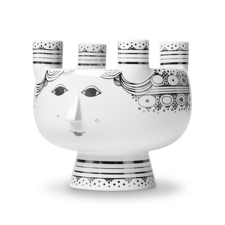 Lucia Candleholder by Bjørn Wiinblad H 15 cm in Silver