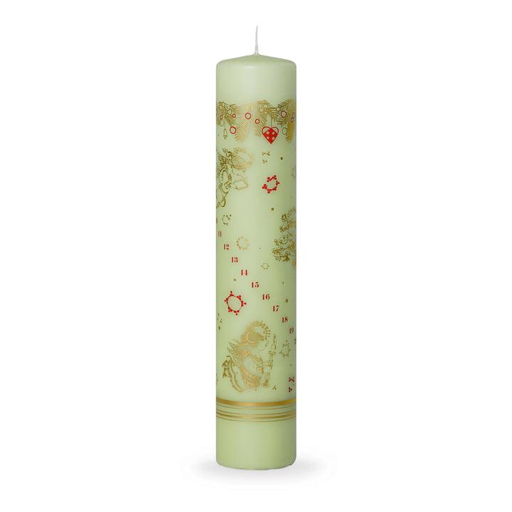 Advent Calendar Candle 2017 H 25 cm by Bjørn Wiinblad in Green