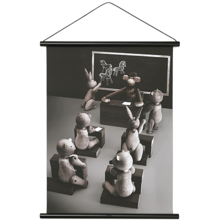 Monkey Classroom Picture incl. Frame by Kay Bojesen