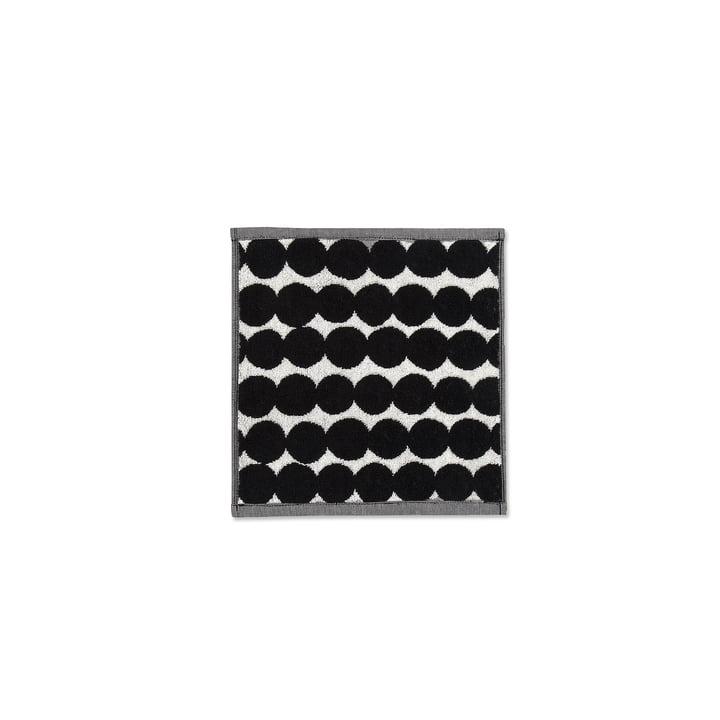 Räsymatto mini towel 25 x 25 cm by Marimekko in black