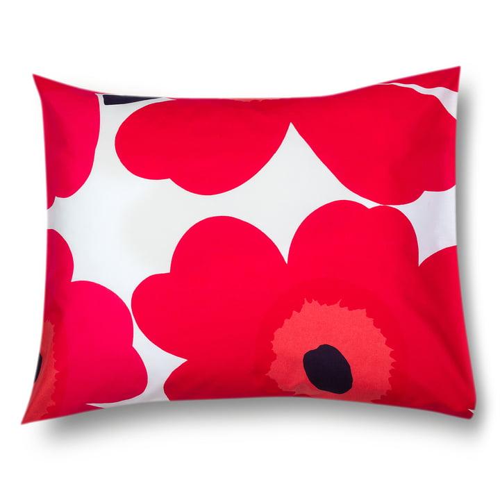 Unikko pillowcase 80 x 80 cm from Marimekko in red / white