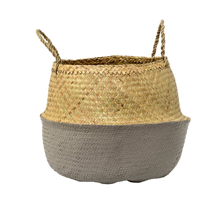 Bloomingville - Seagrass basket, grey
