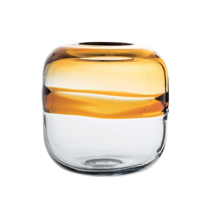 Glass Vase H 16,5 cm by Bloomingville in Brown