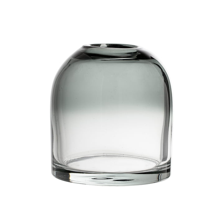 Bloomingville - Glass Vase H 13 cm, grey