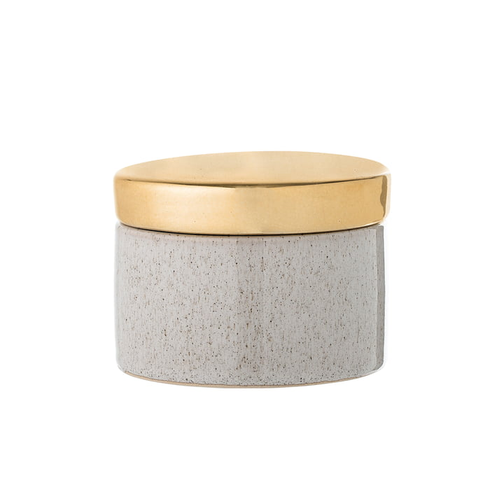 Storage box of Bloomingville in brass / natural