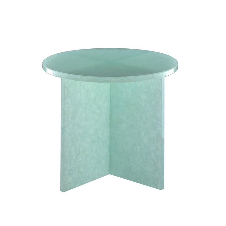 Font Round Table Small, H 46 x Ø 44 cm by Pulpo in Jade
