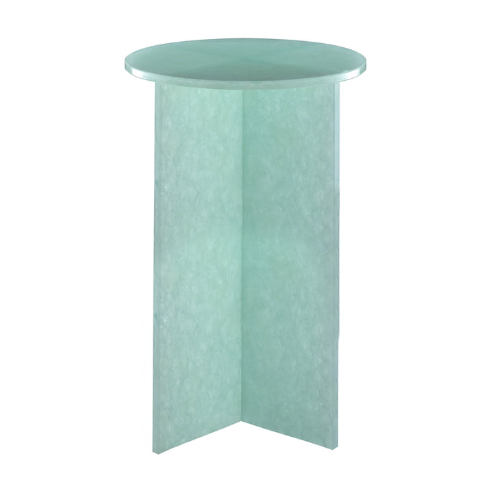 Font Round Table Small, H 55 x Ø 36 cm by Pulpo in Jade