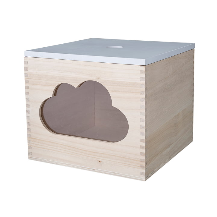 Bloomingville - Toy Box, Cloud, White / Natural