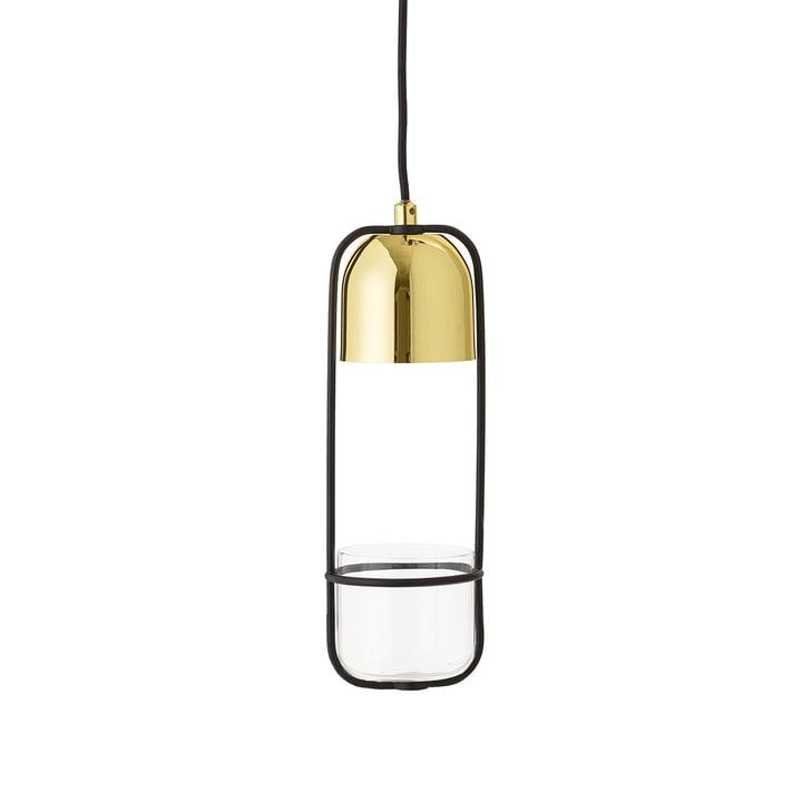The Bloomingville - Flowerpot Pendant Lamp in Metal / Gold
